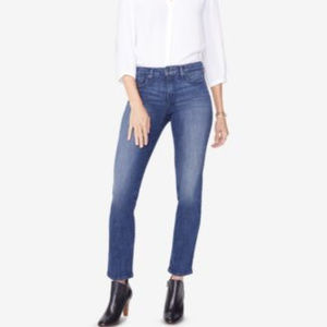 NYDJ Sheri Straight-Leg Jeans Lupine 6